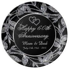 60th anniversary plates happy 60th anniversary plates zazzle co uk