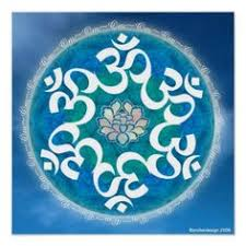 Lotus Flower With Om Symbol - om necklace yoga jewelry purple lotus flower om symbol buddhism