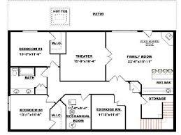 walk out basement floor plans basement floor plans walkout basement floor plans home planning