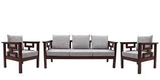 Buy Mariana Teak Wood Sofa Set  Seater  Seater  Seater In - Teak wood sofa sets