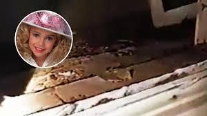 crime scene halloween decorations inside basement where jonbenet ramsey was murdered shattered