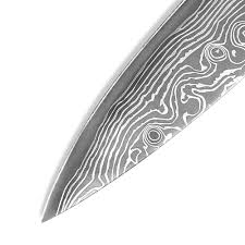 non slip 8 inch chef knife damascus pattern kitchen knives with