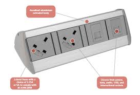 Office Desk Power Sockets Harmony Desk Top Power And Data Module Genesys Office Furniture