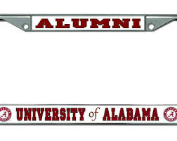 of alabama alumni car tag alabama frame etsy