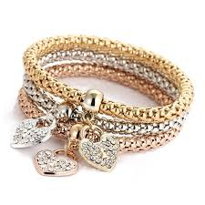 bracelet elastic heart images Crystal butterful elastic heart bracelets ilhaams 39 jewels jpg