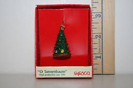 enesco small wonders miniature ornament o tannenbaum christmas