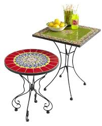outdoor mosaic accent table mosaic accent table outdoor give your patio a global pop of color