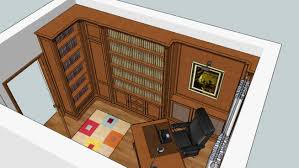 Classic Office Desk Classic Library And Office Desk 3d Warehouse