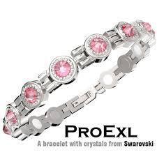 crystal pink bracelet images Swarovski pink crystal womens magnetic bracelet jpg