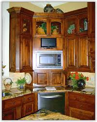 wood corner pantry cabinet home design ideas
