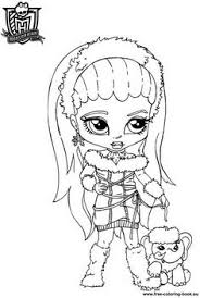 monster coloring pages draculaura monster