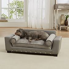 bolster bed pillows amazon com enchanted home pet scout pet sofa lounger with bolster