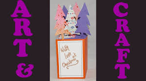 how to make a pop up christmas tree card with kids art ideas for