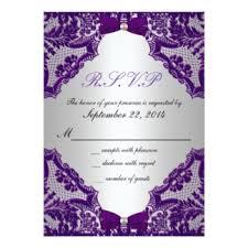 Lavender Wedding Invitations Purple And Silver Wedding Invitations U0026 Announcements Zazzle