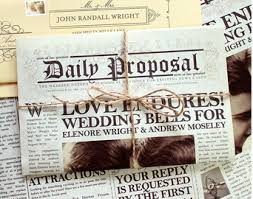 newspaper wedding programs 2015 wedding trend newspaper program