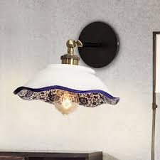 Ceramic Wall Sconce Antique Wall Mount Black Metal Wall Sconces For Bathroom