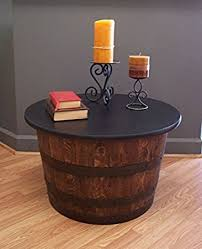 whiskey barrel side table amazon com vintage half whiskey barrel coffee table end table 30