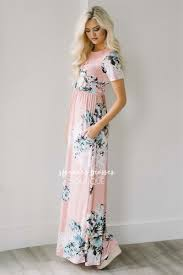 petal pink floral summer maxi modest dress best and affordable
