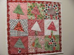 paper piecing pattern christmas tree wall hanging