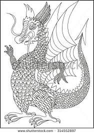 dragon drawing stock images royalty free images u0026 vectors