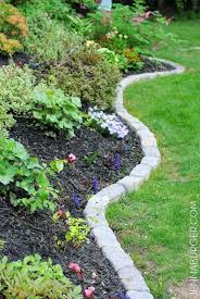 Rocks For Garden Edging Garden Rock Border Landscaping Edging Stones Best Ideas On