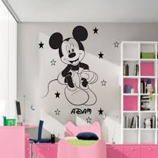boy wall mural promotion shop for promotional boy wall mural on updated vinyl mickey mouse wall mural custom any name with stars boys wallart pegatina for children rooms free shipping