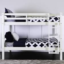 White Bunk Bed Frame Walker Edison Twin Over Twin Wood Bunk Bed Multiple Colors