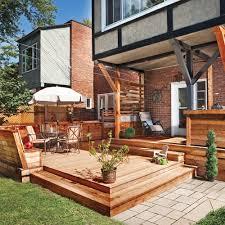terrasse suspendue en bois terrasse en bois multifonction patio inspirations jardinage