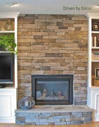 renovation stone fire place modern brick wall white ceiling glass