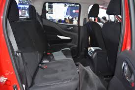 nissan black 2017 nissan navara black edition rear seats at 2017 bangkok