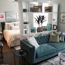 anthony triolo shows off his manhattan flat on instagram daily while xo deidre s decor is neutral a teal velvet sofa with a furry white cushion
