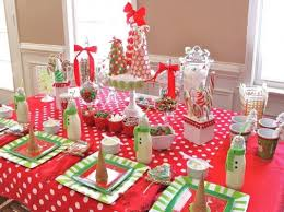 simple table decorations for christmas party christmas party decoration ideas soccer team christmas party