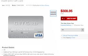 gift cards without fees staples now selling 300 visa gift cards online with 8 95 in fees