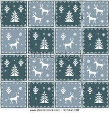 pixel wrapping paper christmas seamless pattern ideal wrapping paper stock vector