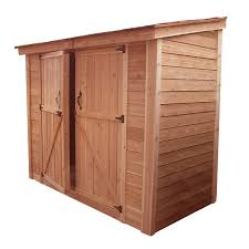 outdoor living today lean to cedar storage shed common 8 ft x 4
