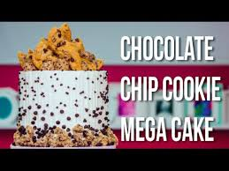 how to make a chocolate chip cookie mega cake with cookies