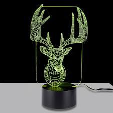 3d table light lamp laniakea 3d illuminated illusion deer light
