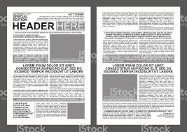 Vorlage Lorem Ipsum Zeitungvorlage Vektor Illustration 471983354 Istock