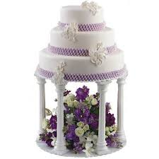 wedding cake plates and pillars how to stack a cake using pillars