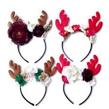 reindeer antlers headband christmas floral headband reindeer antlers headband children