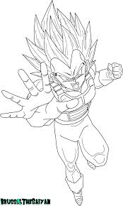 super saiyan 2 vegeta lineart by brusselthesaiyan on deviantart