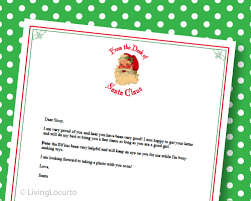 free printable writing paper to santa letter from santa free printable santa stationery
