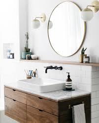 pretty looking round mirror in bathroom best 25 ideas on pinterest