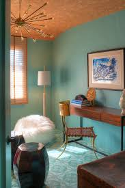 turquoise paint colors eclectic den library office dunn