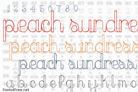 peach sundress font download fonts4free