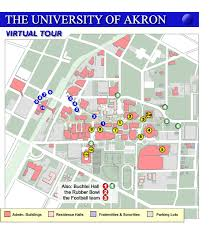 of akron map of akron cus map my
