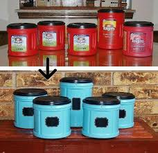 food canisters kitchen fabulous folger s coffee plastic container upcycle snacks craft