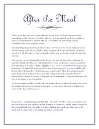 Thank You Note After Dinner Party - restaurant etiquette a crash course