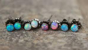opal stud earrings earrings opal stud earrings dainty opal earrings