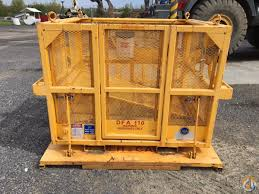 2010 super cage dfa 110 man baskets crane part for sale in